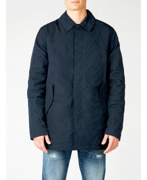 TRENCH IN TESSUTO TECNICO BLU - Trench&Impermeabili FRED PERRY