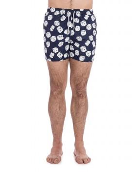 COSTUME LIGHTING BLU STAMPA DADI - Costumi&Beachwear MC2 SAINT BARTH