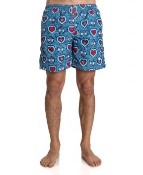 COSTUME BLU STAMPA CUORI - Costumi&Beachwear MITCHUMM INDUSTRIES
