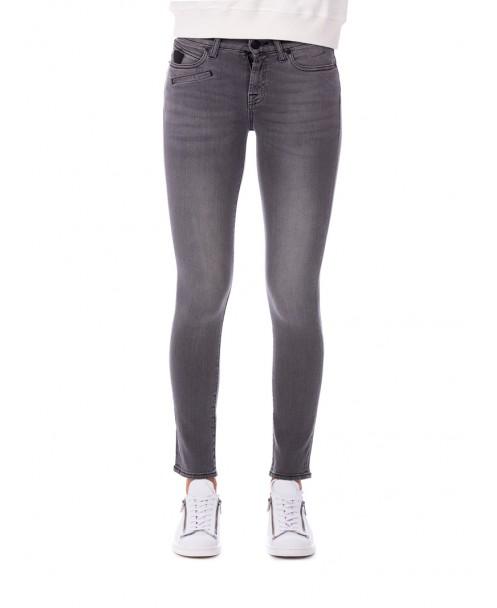 JEANS SKINNY GRIGIO SCURO - Jeans&Denim HTC HOLLIWOOD TRADING COMPANY