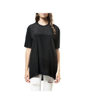 BLUSA IN SETA NERA - Camicie&Bluse CYCLE
