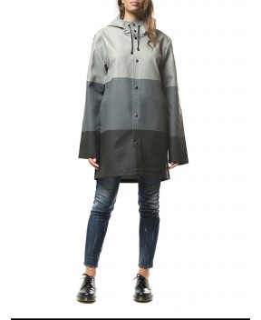 IMPERMEABILE STOCKHOLM A RIGHE GRIGIO - Trench&Impermeabili STUTTERHEIM