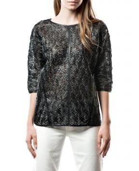 MAGLIA OVER NERA - T-Shirt&Top SUPERTRASH