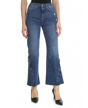 JEANS HW VINTAGE CROPPED BOOT BLU - Jeans&Denim 7 FOR ALL MANKIND