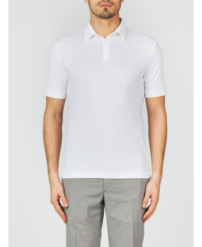 POLO ICE COTTON BIANCA - Polo ZANONE