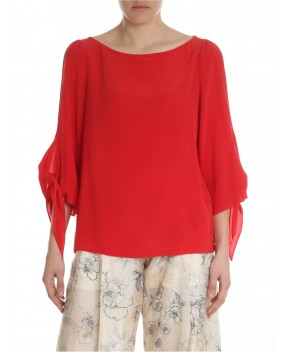 BLUSA FOLLET ROSSA - Camicie&Bluse SEMICOUTURE