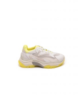 SNEAKERS ADDICT BIANCHE E GIALLO FLUO - Sneakers ASH