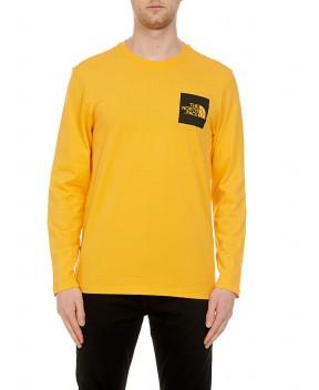 T-SHIRT FINE A MANICHE LUNGHE ARANCIO - T-Shirt THE NORTH FACE