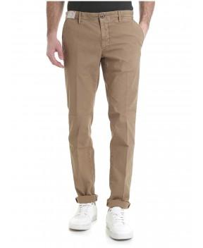 PATALONE MICROPERATO BEIGE (LINEA SLACKS) - Pantaloni INCOTEX