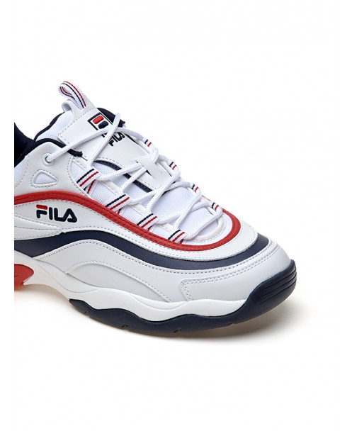 SNEAKERS RAY F LOW BIANCHE, BLU E ROSSE