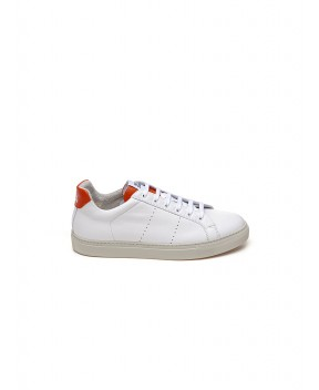 SNEAKERS EDITION 4 BIANCHE E ARANCIO - Sneakers NATIONALSTANDARD