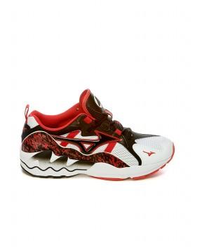 SNEAKERS WAVE RIDER 1 BIANCHE, NERE E ROSSE - Sneakers MIZUNO