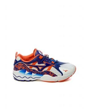 SNEAKERS WAVE RIDER 1 BIANCHE, BLU E ROSA FLUO - Sneakers MIZUNO