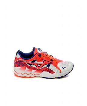 SNEAKERS WAVE RIDER 1 BIANCHE, ROSA FLUO E BLU - Sneakers MIZUNO