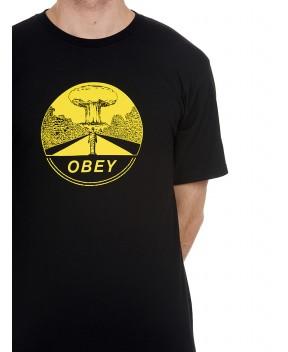 T-SHIRT MUSHROOM CLOUDS NERA - T-Shirt OBEY