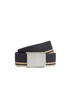 CINTURA TWIN TIPPED WEBBING NERA - Cinture FRED PERRY
