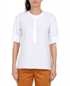 BLUSA IN POPELINE BIANCA - Camicie&Bluse OTTOD'AME