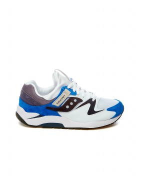 SNEAKERS GRID 9000 BIANCHE E BLU - Sneakers SAUCONY