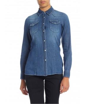 CAMICIA JAYL IN DENIM BLU - Jeans&Denim DONDUP