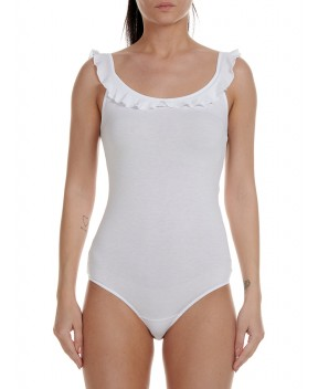 BODY BIANCO CON ROUCHES - Body JIJIL