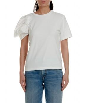 T-SHIRT MANICA A PALLONCINO BIANCA - T-Shirt&Top WEILI ZHENG