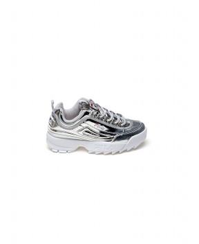 SNEAKERS DISRUPTOR LOW ARGENTO - Sneakers FILA