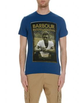 T-SHIRT STEVE MCQUEEN BLU - T-Shirt BARBOUR INTERNATIONAL