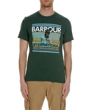 T-SHIRT STEVE MCQUEEN VERDE - T-Shirt BARBOUR INTERNATIONAL