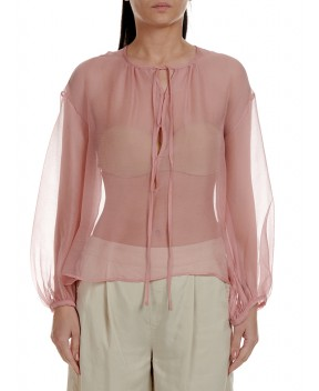 BLUSA IN GEORGETTE ROSA - Camicie&Bluse CO.GO