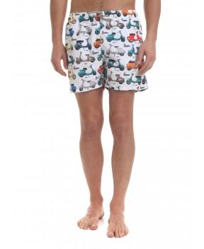 COSTUME GUSTAVIA BIANCO VESPA STORY (LIMITED EDITION) - Costumi&Beachwear MC2 SAINT BARTH