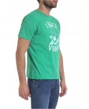 T-SHIRT SKYLAR VERDE STAMPA AVOCADO - T-Shirt MC2 SAINT BARTH