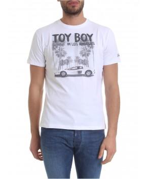 T-SHIRT MAN BIANCA STAMPA MACCHINA - T-Shirt MC2 SAINT BARTH
