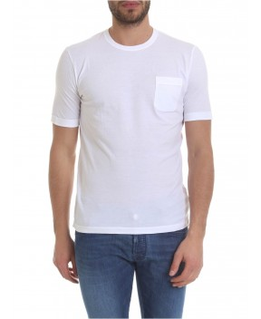 T-SHIRT BIANCA CON TASCHINO - T-Shirt ZANONE