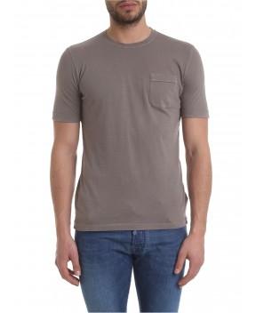 T-SHIRT TORTORA CON TASCHINO - T-Shirt ZANONE