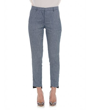 PANTALONE GIANNINI IN DENIM BLU - Pantaloni 8PM