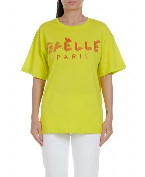 T-SHIRT LOGO LIME FLUO - T-Shirt&Top GAELLE PARIS