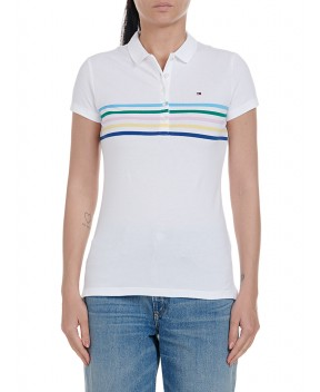 POLO NEW CHIARA BIANCA - T-Shirt&Top TOMMY HILFIGER ICONS