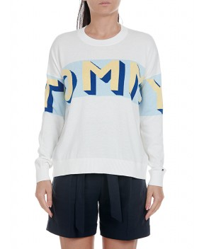 MAGLIA LENAH BIANCA - Maglie TOMMY HILFIGER ICONS