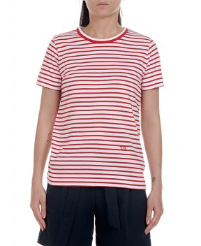 T-SHIRT ESSENTIAL RELAXED A RIGHE ROSSE - T-Shirt&Top TOMMY HILFIGER ICONS