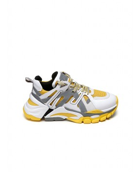 SNEAKERS FLASH BIANCHE E GIALLE - Sneakers ASH
