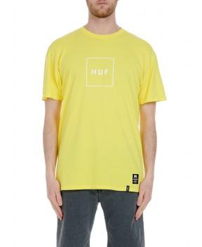 T-SHIRT ESSENTIALS BOX LOGO GIALLA - T-Shirt HUF