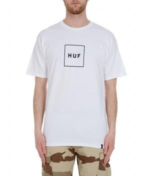 T-SHIRT ESSENTIALS BOX LOGO BIANCA - T-Shirt HUF