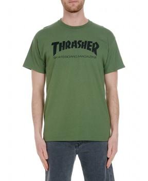T-SHIRT SKATE MAG VERDE MILITARE - T-Shirt THRASHER