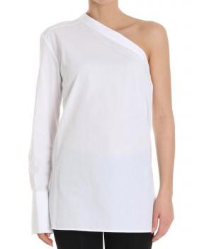 CAMICIA MONOSPALLA BIANCA - T-Shirt&Top HELMUT LANG