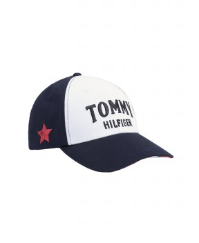 CAPPELLO BOLD TOMMY BLU E BIANCO - Cappelli TOMMY HILFIGER ICONS