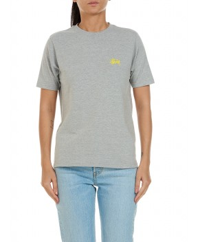 T-SHIRT BASIC GRIGIA MELANGE - T-Shirt&Top STUSSY