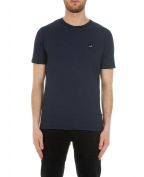 T-SHIRT IN PIQUE' BLU SCURO - T-Shirt C.P. COMPANY
