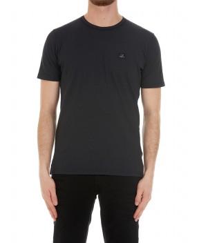 T-SHIRT IN PIQUE' NERA - T-Shirt C.P. COMPANY