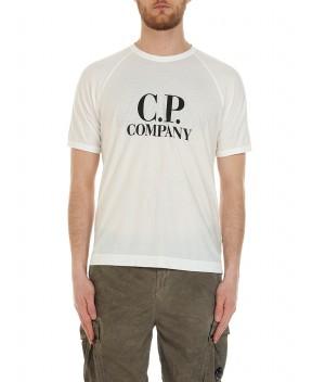 T-SHIRT BIANCA CON LOGO - T-Shirt C.P. COMPANY