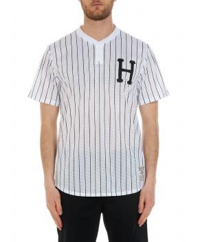 T-SHIRT BRONX HENLEY BIANCA - T-Shirt HUF